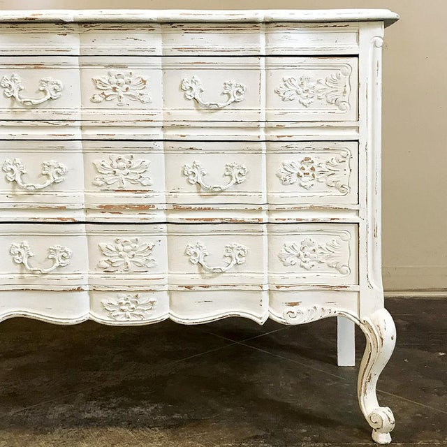 Metal Antique Country French Provincial Painted Commode For Sale - Image 7 of 12