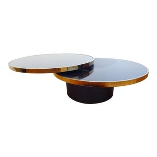 1970s Modern Dia Swivel Coffee Table For Sale