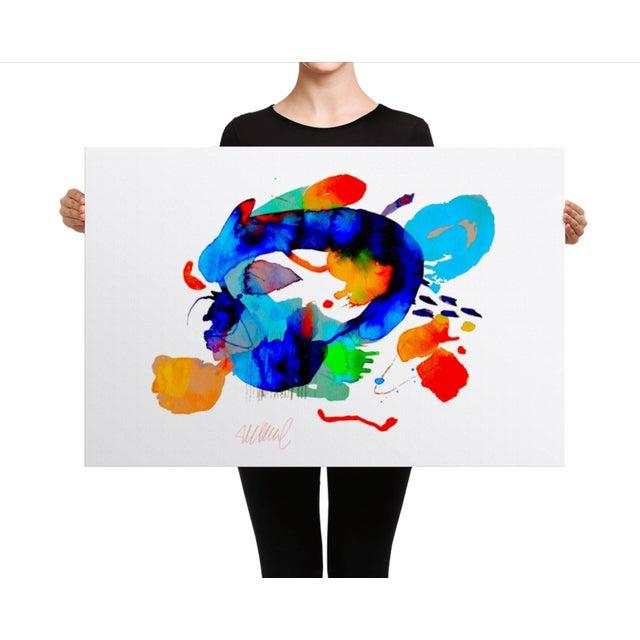 """Miami Splash"" Abstract Art Print - Image 3 of 4"