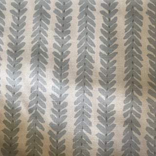 Traditional Schumacher Woodperry Linen Fabric in Blue - 5 Yards For Sale