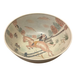 WBU Asian Hunting Scene Large Bowl For Sale
