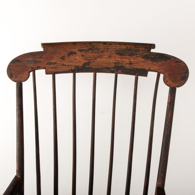 Black Early 19th Century Windsor Rocking Chair For Sale - Image 8 of 13