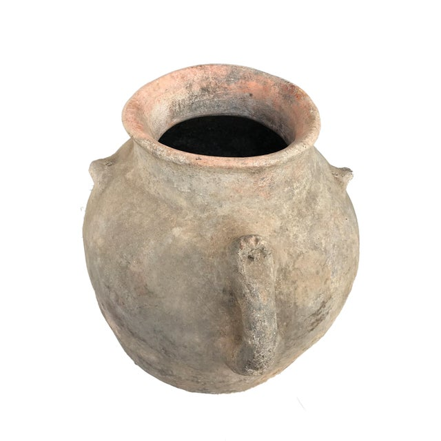 """Metal Lg Saharian Terracota Pot W/ Stand 29"""" H For Sale - Image 7 of 8"""