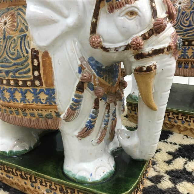 Vintage Elephant Garden Stools - A Pair For Sale - Image 4 of 6