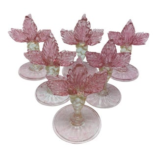 Antique Murano Place Card Holders - Set of 6 For Sale