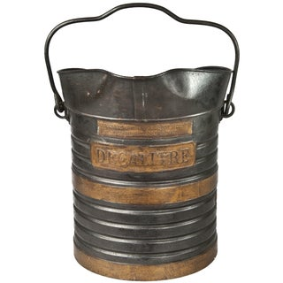Vintage French Metal Decalitre Bucket