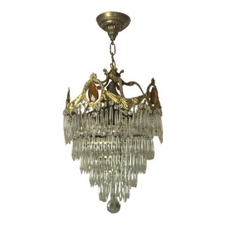 Antique Art Deco Wedding Cake Tier Chandelier