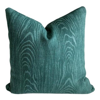 Woodgrain Linen Pillow For Sale