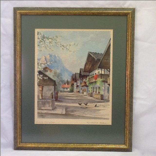 1960s German Village Original Watercolor - Image 2 of 11