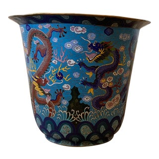 Antique Chinese Cloisonne Planter For Sale