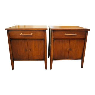 Mid Century Walnut Henredon 'Circa 60' Nightstands- a Pair