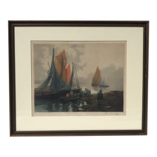 Vintage Seascape Lithograph For Sale