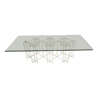 Mid-Century Modern Long Rectangular Lucite and Glass Coffee Table For Sale