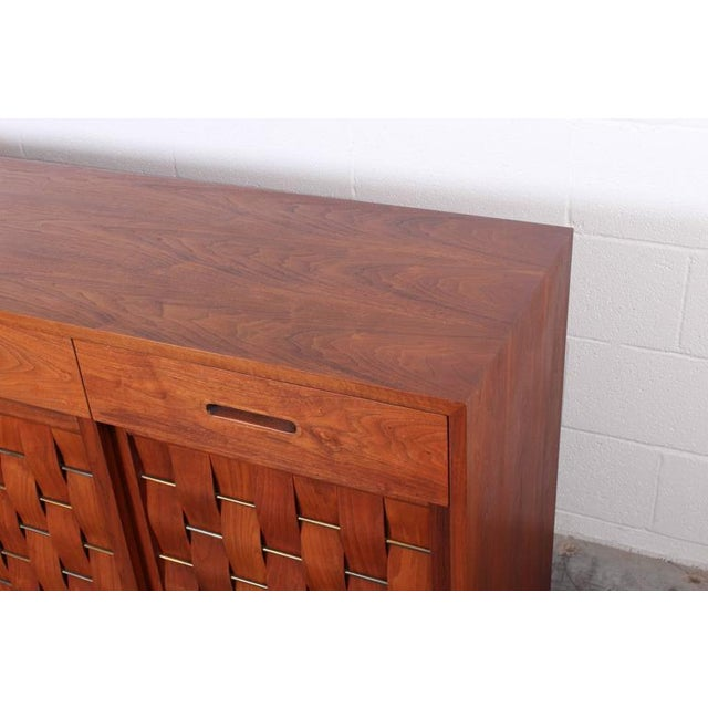 Woven Front Cabinet by Edward Wormley for Dunbar For Sale - Image 9 of 10
