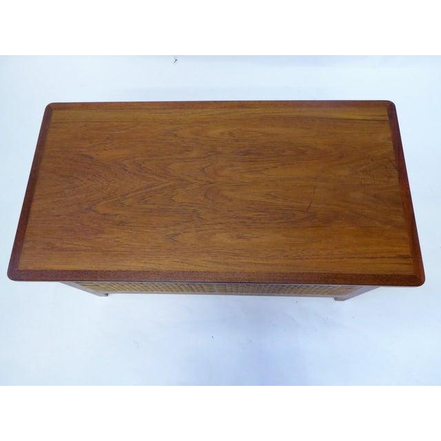 Brown Danish Modern Teak & Cane Blanket Chest For Sale - Image 8 of 12