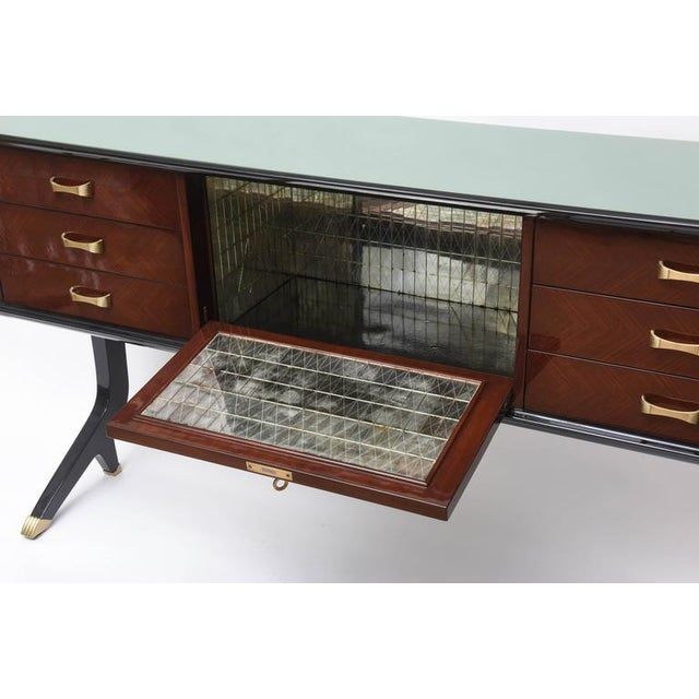 Art Deco Style Italian Rosewood Bar Buffet For Sale - Image 4 of 9