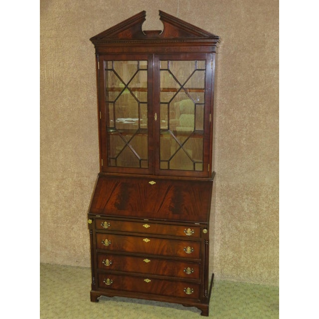 1980s Regency Style Secretary Desk For Sale - Image 12 of 12