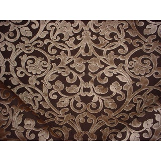 Kravet Couture 29622 Thats Charming Espresso Gothic Velvet Upholstery Fabric- 14 Yards For Sale