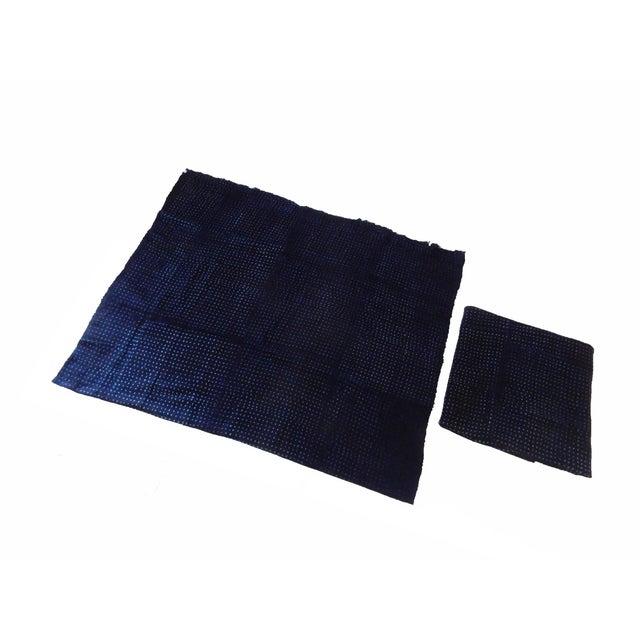 Primitive Malian Indigo Mud Cloth Textiles - S/2 For Sale - Image 3 of 5