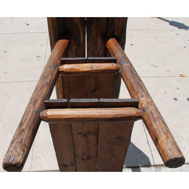 Rustic Bench/Shelf Signed Habitant - Image 2 of 7