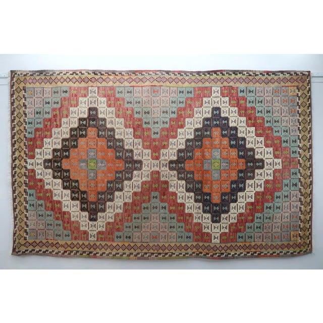 Vintage Turkish Kilim Rug-6′ × 12′8″ For Sale - Image 13 of 13