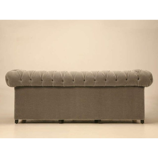 Chesterfield in Mohair with Solid Bronze Paw Feet For Sale In Chicago - Image 6 of 10