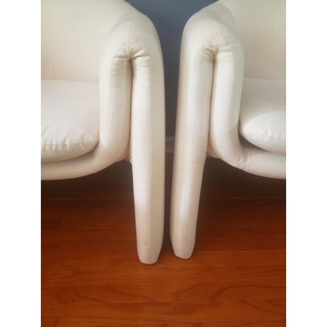 Preview 1980s Vintage Vladimir Kagan Sculptural Arm Chairs- A Pair For Sale - Image 4 of 13