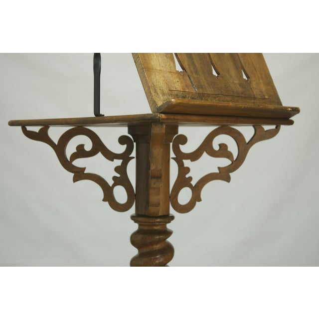 Monumental Italian Carved Oak Lectern Book Stand - Image 4 of 7