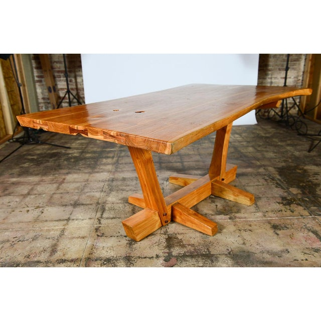 George Nakashima Style Conoid Dining table For Sale - Image 4 of 10