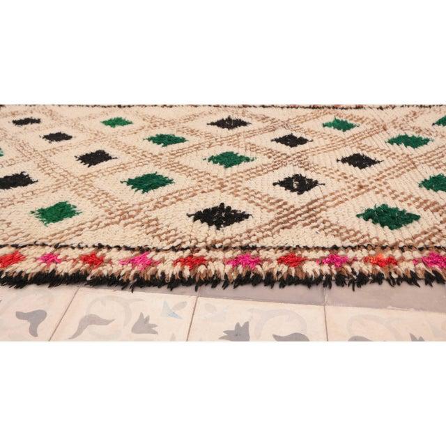 "Azilal Vintage Moroccan Rug - 3'0"" x 6'4"" - Image 3 of 4"