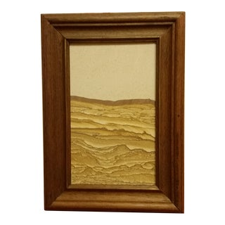 1970s Rustic Framed Sandstone Wall Display