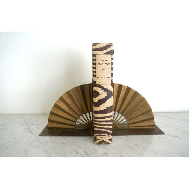 Brass Fan Bookends - Pair - Image 4 of 4