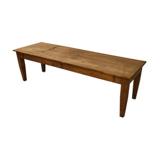 Primitive Antique Industrial Farmhouse Coffee Table For Sale