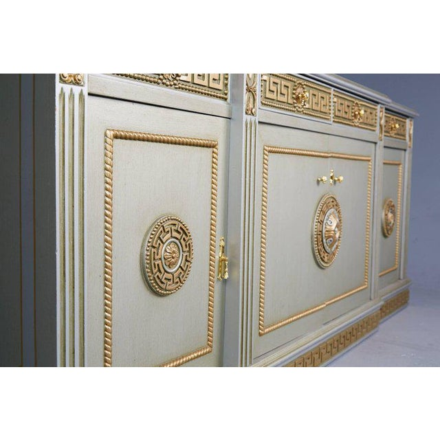 Green Greek Revival Versace Style Modernist Server With Mirror, Circa 1970 For Sale - Image 8 of 10