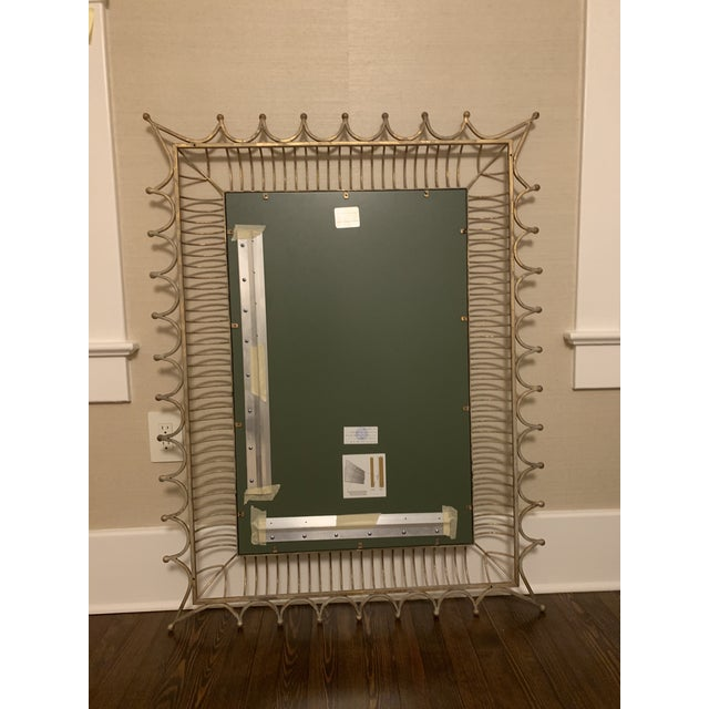 Hollywood Regency Bunny Williams Gold Rex Wall Mirror For Sale - Image 3 of 6