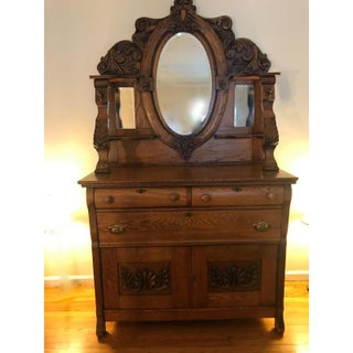 Late 19th Century RJ Horner Oak Griffin Buffet Preview