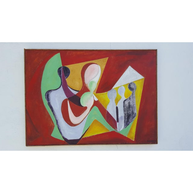 1977 Intermezzo Abstract Painting By Chester T. Kuziora - Image 2 of 11
