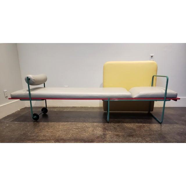 "Postmodern Memphis Milano Limited Edition ""Century"" Sofa by Andrea Branzi Circa 1982 For Sale - Image 3 of 13"