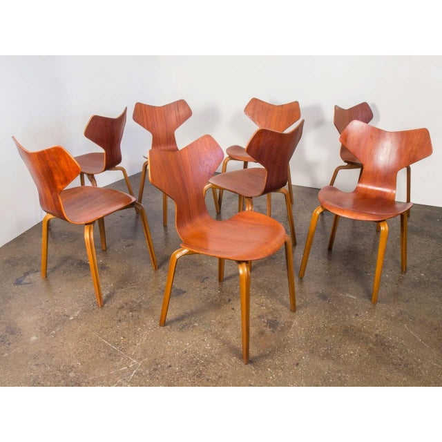 Set of Eight Arne Jacobsen Grand Prix Chairs - Image 2 of 10