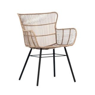 Rope & Black Outdoor Arm Chair For Sale