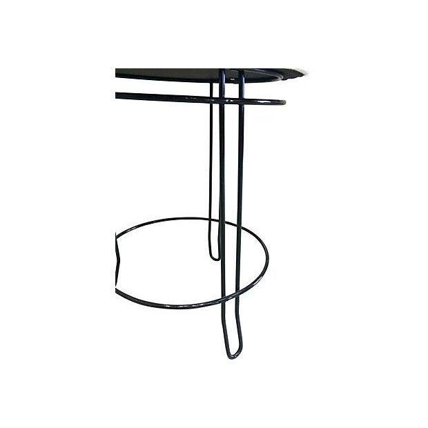 Mid-Century Modern Black Hairpin Stool - Image 4 of 4