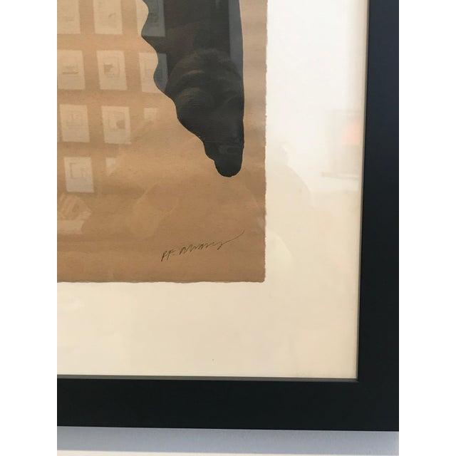 "Contemporary R. F. Alvarez ""Man"" Contemporary Painting For Sale - Image 3 of 4"