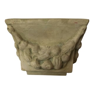 Vintage Small Cast Stone Pottery Planter For Sale