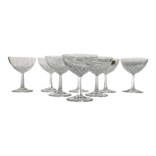Vintage Luminarc Verrerie D' Argue Old Fashion Champagne Glasses S/8 For Sale