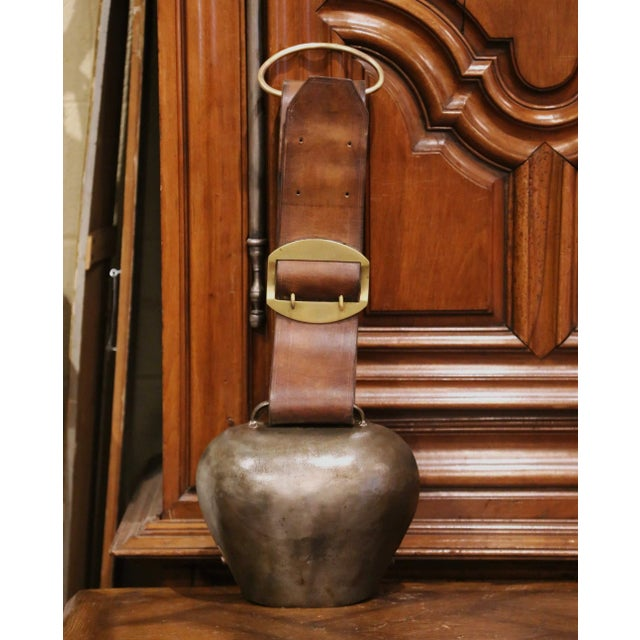 Bring the French countryside into your home with this beautiful, patinated antique bell. Crafted in the Alps mountains of...