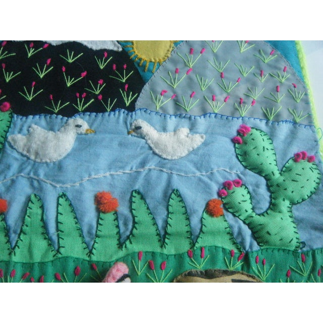 Vintage 1970s Handmade Peruvian Wall Textile - Image 6 of 7