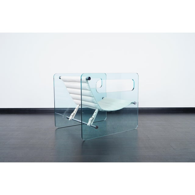 """Naked"" Glass Lounge Chair by Giovanni Tommaso - Image 4 of 7"