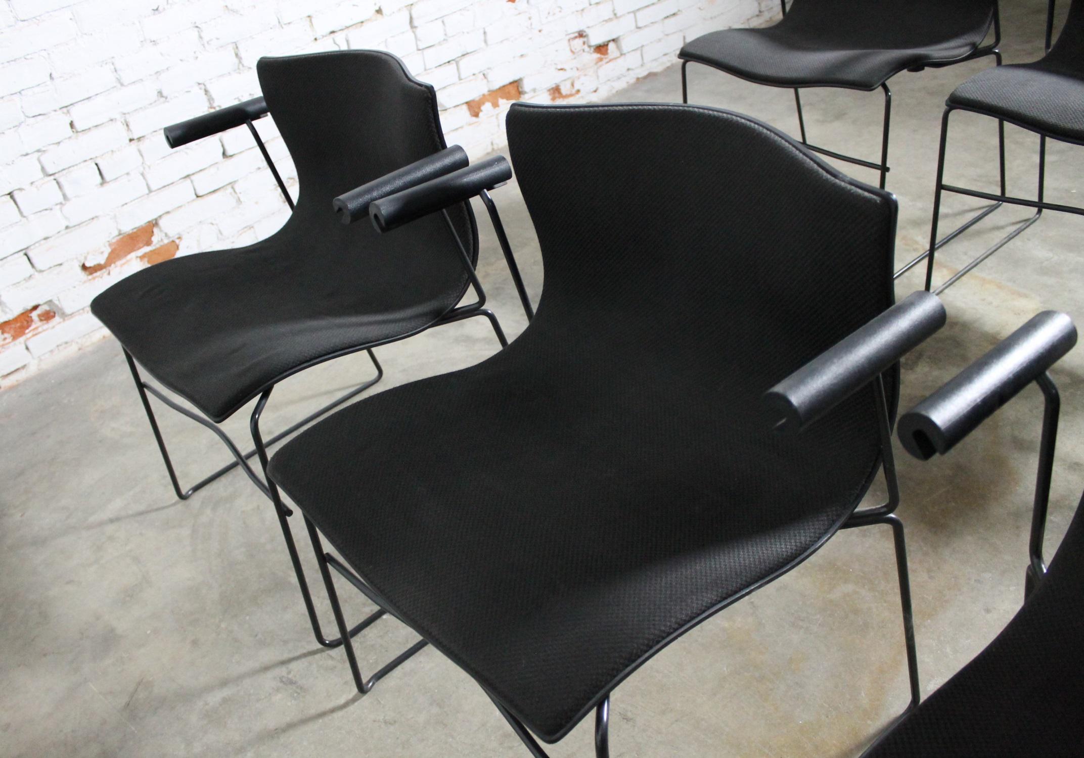 Massimo U0026 Lella Vignelli For Knoll Vintage Handkerchief Chairs   Set Of 6    Image 9