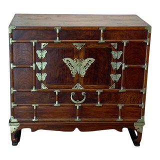 Early 20th Century Japanese Traditional Tansu Chest on Wood Stand For Sale