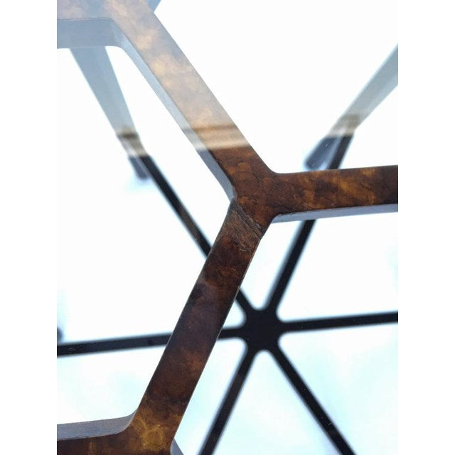 John Widdicomb Tortoiseshell Honeycomb Side Table For Sale - Image 5 of 6